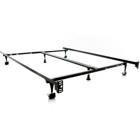 Structures Universal Adjustable Metal Bed Frame with Center Support