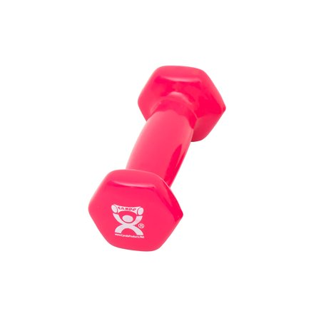 Vinyl-coated iron dumbbell,pink, 1 lb, 1 (Purple Pink Checkerboard)