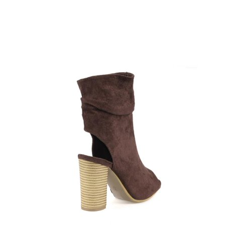 Mark and Maddux Slouchy Women's Peep Toe Booties