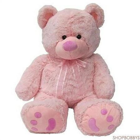 Joon Huge Teddy Bear With Ribbon, Pink](Pink Beard)