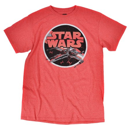 Disney star wars distressed vintage style x wing print for Vintage star wars t shirts men