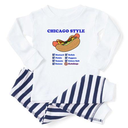 b3420fb9f CafePress - CafePress - Chicago Style Hotdog - Toddler Long Sleeve Pajama  set - Walmart.com