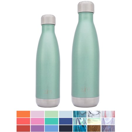 Simple Modern 25oz Wave Water Bottle - Vacuum Insulated Double Wall 18/8  Stainless Steel Hydro Swell Flask - Rainforest