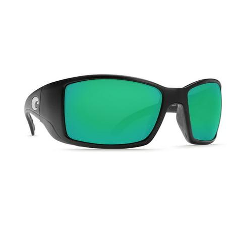 3468ee3576ffd Costa Del Mar Blackfin Matte Black Sunglasses Green Lens 400G - Walmart.com