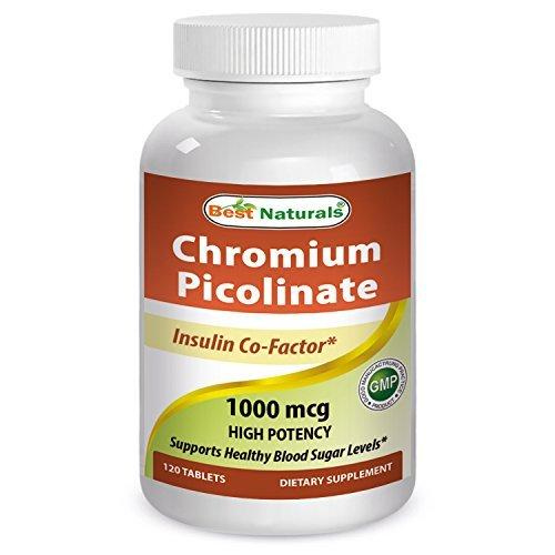 Best Naturals Chromium Picolinate 1000 mcg 120 Tablets