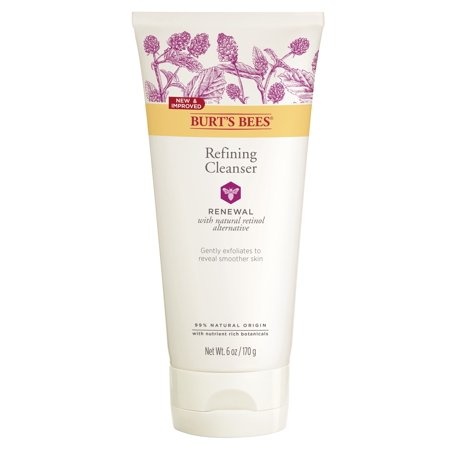 Burt's Bees Renewal Refining Cleanser, Firming Face Wash, 6