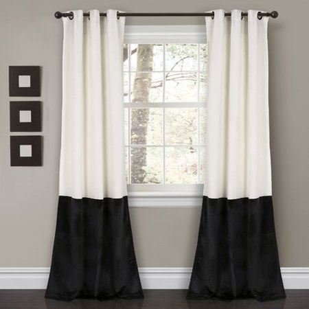 Alcott Hill Lucille Nature / Floral Room Darkening Grommet Single Curtain Panel (Set of 2) (Nature Window Curtains)