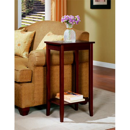 DHP Rosewood Tall End Table, Coffee Brown (Solid Wood Coffee Table And End Tables)