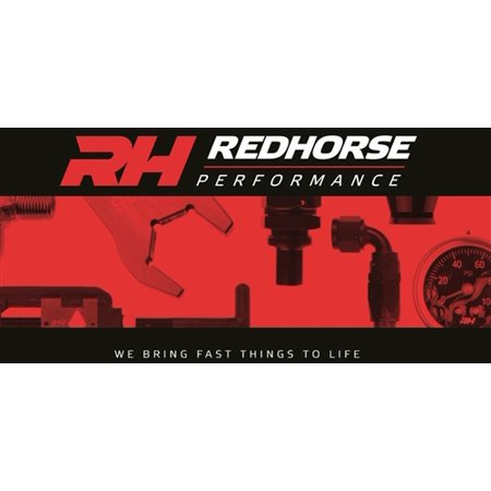 - Red Horse Performance 8161-06-12-5 RHP8161-06-12-5 -06 MALE AN/JIC FLARE TO M12X1.5 INVERTED ADAPTER - CLEAR