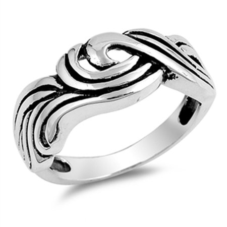 Sterling Silver Womens Mens Oxidized Celtic Ring Sizes