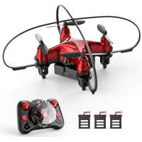 Holyton HT02 Mini Drone RC Nano Quacopter Drone for Kids and Beginners RC Helicopter with Auto Hovering 3D Flip Headless Mode 3 Batteries