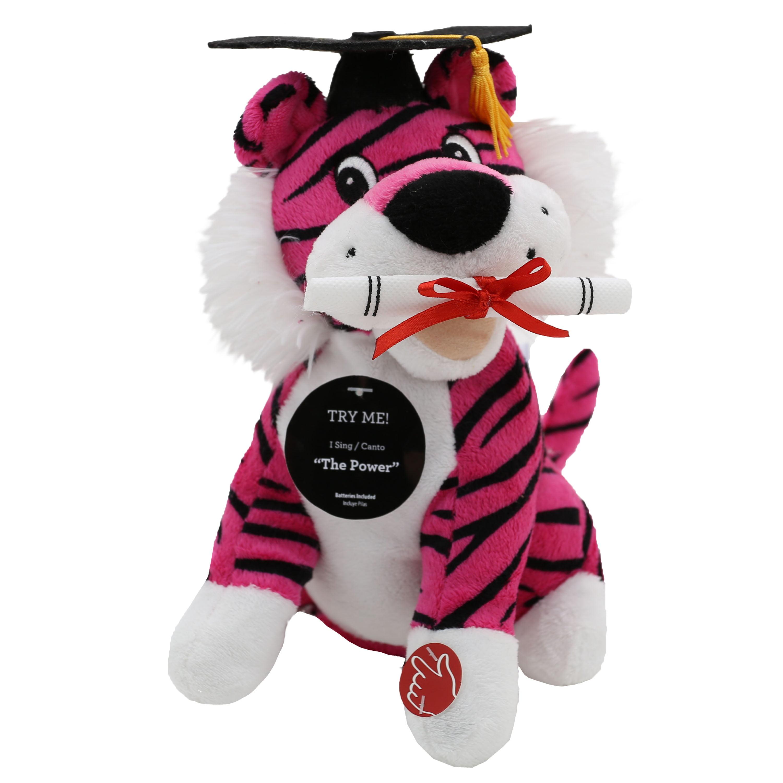 9 Inch Graduation Wild Silly Animated Plush Pink Tiger Walmart Com