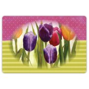 Drymate Spring/Summer Collection Welcome Mat - Tulips
