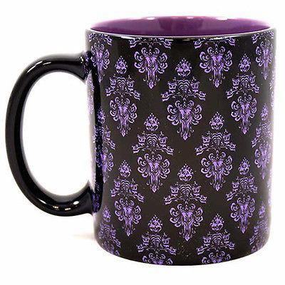 Disney Glass Cups (disney parks haunted mansion wallpaper hurry back coffee ceramic mug)