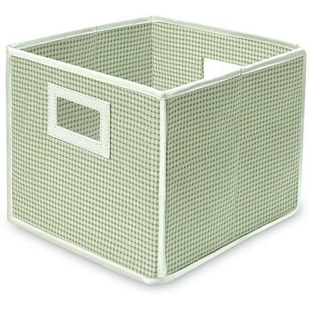 Badger Basket Folding Sage Gingham Storage Cubes (Pack of 3)