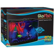 GloFish 3 Gallon Aquarium Kit with Cover, Frame, LEDs, Power Supply and Filter