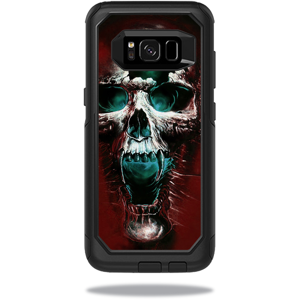 MightySkins Protective Vinyl Skin Decal for OtterBox Commuter Samsung Galaxy S8 Case sticker wrap cover sticker skins Wicked Skull