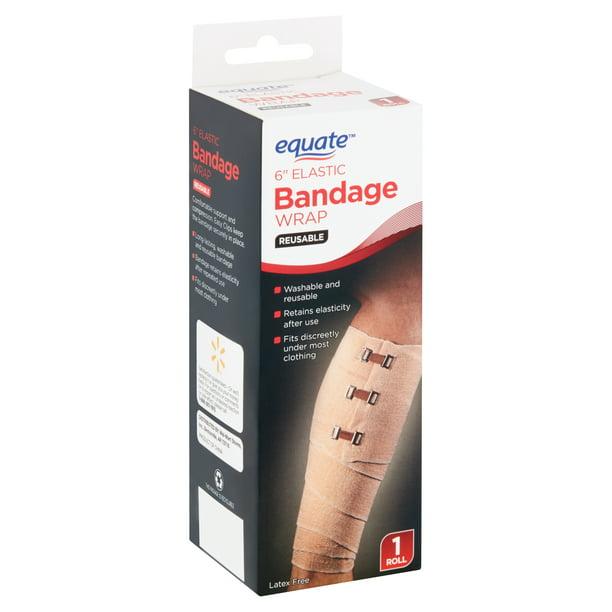 Equate Reusable 6 Elastic Bandage Wrap 1 Roll Walmart Com