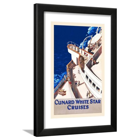 Cunard White Star Line (Cunard White Star Line Framed Print Wall Art By William Howard Jarvis)