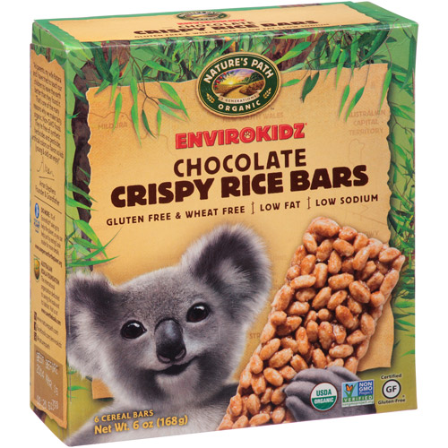 Nature's Path Organic Envirokidz Chocolate Crispy Rice Bars, 6 count, 6 oz, (Pack of, 6)