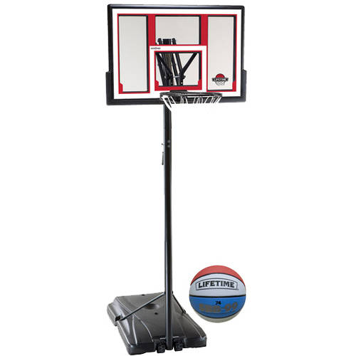 """Lifetime Pro Courtside 48"""" Portable Basketball System with Basketball"""