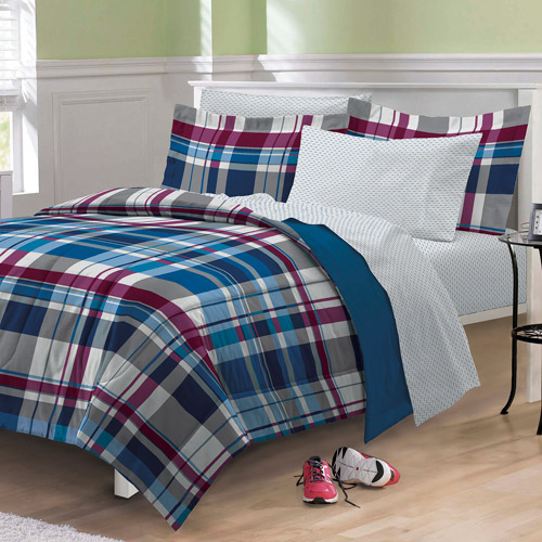 My Room Varsity Plaid Bedding Comforter Set