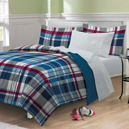 My Room Varsity Plaid Bed In A Bag Walmart Com