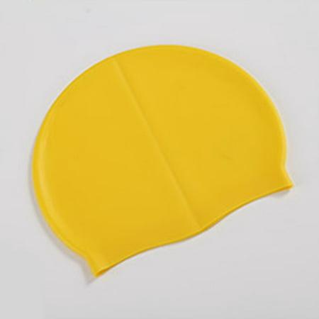 Silicone Waterproof Swimming Caps Protect Ears Long Hair Sports Swim Pool Hat - image 6 de 8