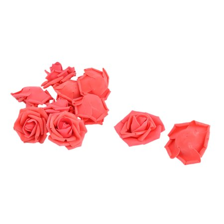 Bride Wedding Foam Artificial Rose Flower Head Buds DIY Headband Decor Red 10pcs