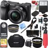Sony ILCE-6300 a6300 4K Mirrorless Camera w/ 16-50mm Power Zoom Lens + 32GB Accessory Bundle + DSLR Photo Bag + Extra Battery + Wide Angle Lens+2x Telephoto Lens + Flash + Remote + Tripod E12SNILCE6300L CAMERA INCLUDES:Sony ILCE-6300 a6300 Mirrorless Digital CameraSony 16-50mm Power Zoom LensRechargeable Battery NP-FW50Shoulder StrapBody CapAccessory Shoe CapEyepiece CupMicro USB BUNDLE INCLUDES:Large Gadget Bag for SLR Digital CamerasC1300 Bridge Camera Hard Case64GB Extreme SD Memory UHS-I CardInfoLithium H Series NP-FW50 Spare BatteryPro .43x Wide Angle Lens w/ MacroPro 2x Telephoto Lens Converter40.5mm UV, Polarizer & FLD Deluxe Filter kit (set of 3 + carrying case)40.5mm/58mm Step-up ringCorel PaintShop Pro X9 Digital Download12-inch Rubberized Spider Tripod, LargeWireless Shutter Release Remote ControlBounce Zoom Slave Flash Enhance Photos, Colors & SaturationLCD/Lens Cleaning Pen & Microfiber cloth ...