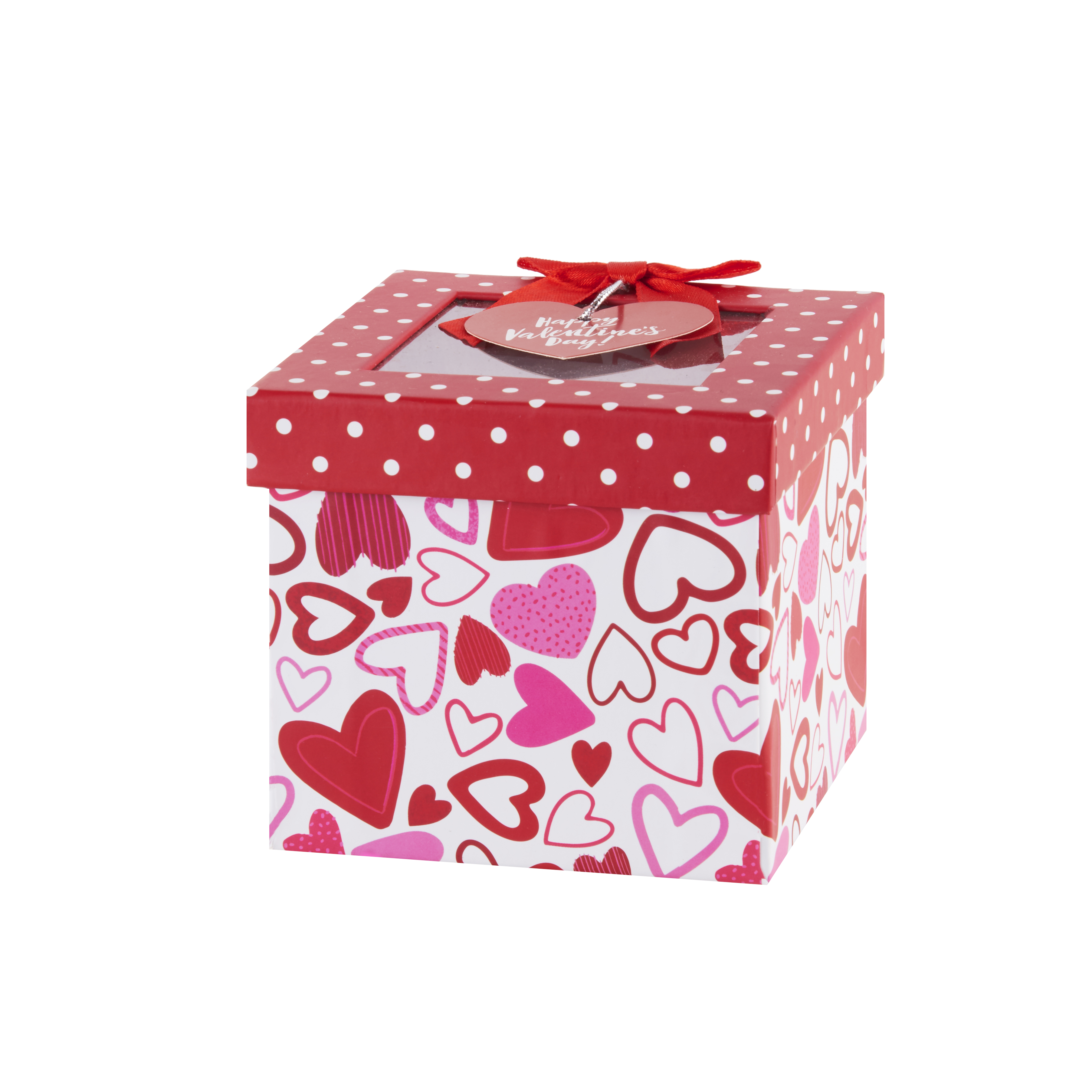Way To Celebrate Valentine's Day Hearts and Dots Gift Box