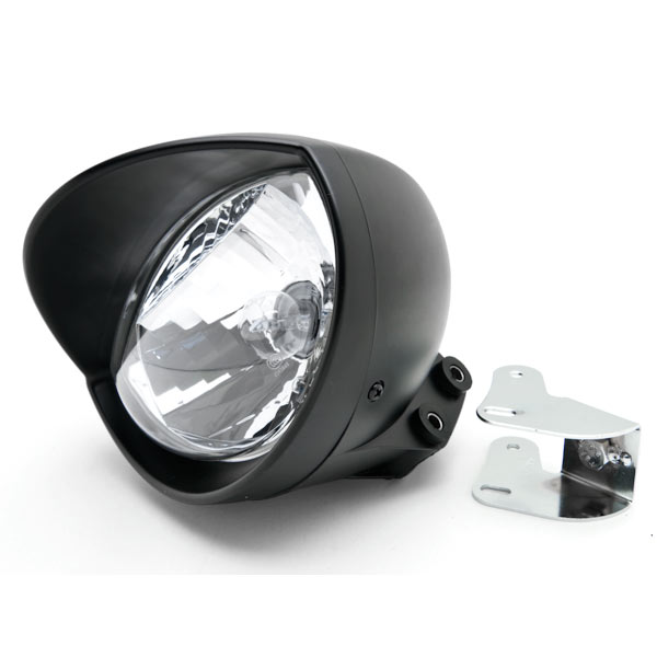 Motorcycle Custom Black Headlight Head Light For Yamaha TX SR CS YX RD 350 400 500 600 650 750 - image 3 of 6