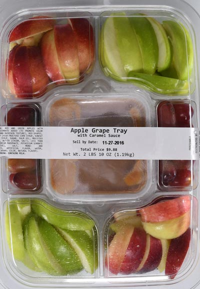 Apple & Grape Caramel Tray, 42 oz