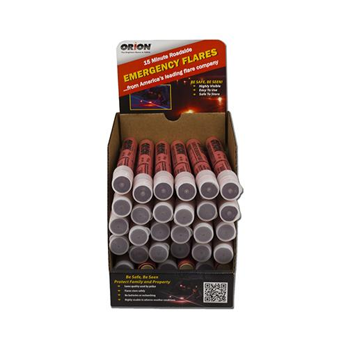 Orion Safety Products 36 Packs 15MIN Emergency Flare