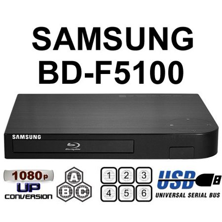 Samsung BD-F5100 Upgraded Multi Region Zone Free Blu Ray DVD Player – PAL/NTSC – Worldwide Voltage – 6 Feet HDMI Cable I