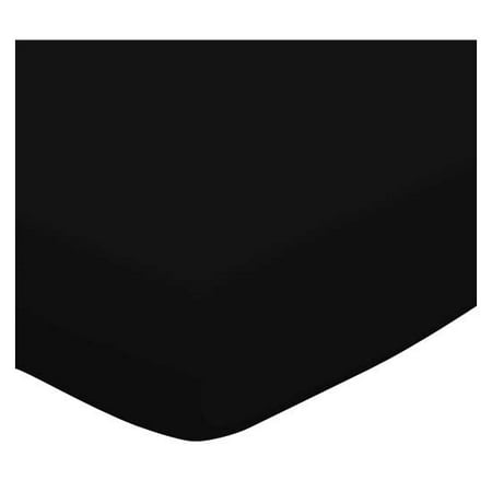 SheetWorld Fitted Square Playard Sheet (Fits Joovy) - Solid Black Jersey Knit