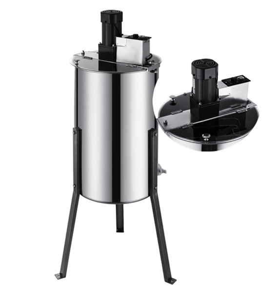 BestEquip Electric Honey Extractor 2 Frame Bee Extractor Stainless Steel Honey Spinner with Stand Beekeeping Equipment