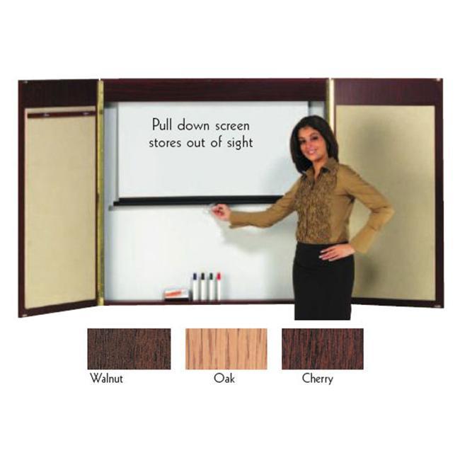 Aarco OVC-1 Hardwood Veneer Conference Cabinet - Oak