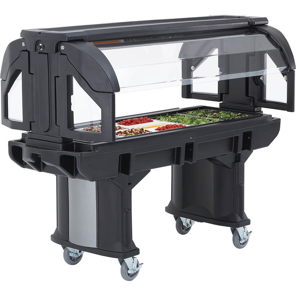 Cambro 6 Ft. Portable Food / Salad Bar with Casters, Blac...