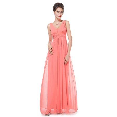 Ever Pretty Womens Floor Length V Neck Semi Formal Evening Prom