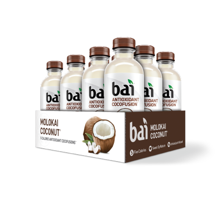 Bai Cocofusion Antioxidant Infused Beverage, Molokai Coconut, 18 Fl Oz, 12