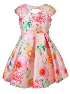281ec09c6 Product Image Bonnie Jean Little Girls Pink Floral Cut-Out Knee-Length  Easter Dress