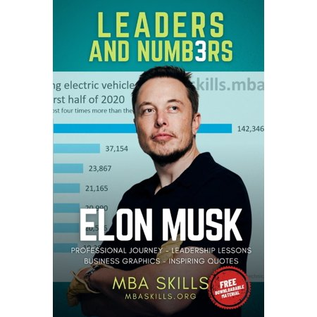 Leaders and Numbers: Elon Musk - Leaders and Numbers: Professional journey, leadership lessons, business graphics, and inspiring quotes from the founder and CEO of Tesla, SpaceX, Paypal, and Neuralink