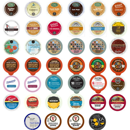 Perfect Samplers Coffee & Flavored Coffee Single Serve Cups Variety Pack Sampler, 40 Ct