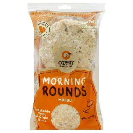 Ozery Bakery Ozery Bakery Morning Rounds Fruit & Grain Buns, 6 ea