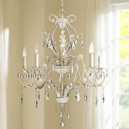 Kathy Ireland Devon 5-Light Antique White Crystal