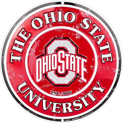 Ohio State Buckeyes Circle Sign