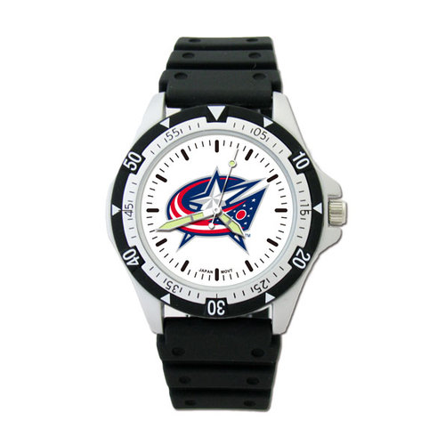 NHL - Columbus Blue Jackets Option Watch with Rubber Strap