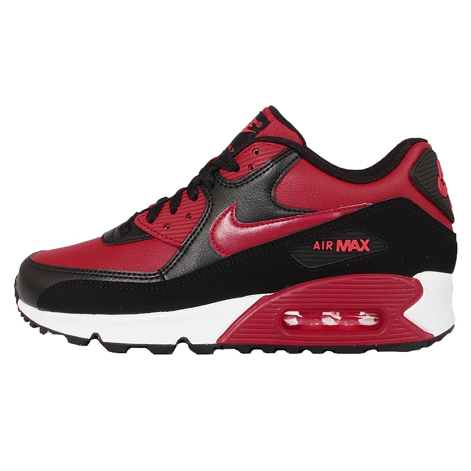 Nike Kids Air Max 90 LTR Running Shoes-Red/Black