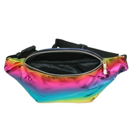 2 Moda Rainbow Fashion Waist Pack Belt Bag - image 1 of 3